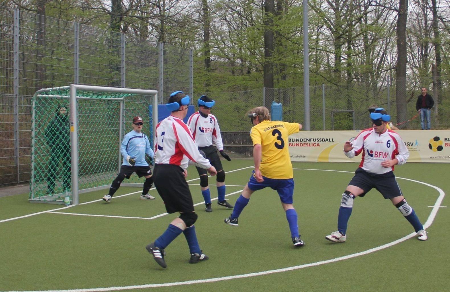 Spielszene des BFW&VSV Würzburg gegen die SF Marburg