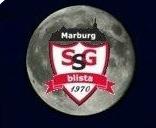 Logo der SSG vor einem Mond