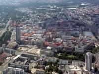 Luftaufnahme der Leipziger Innenstadt