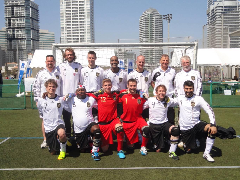 Gruppenfoto der Nationalmannschaft in Tokio