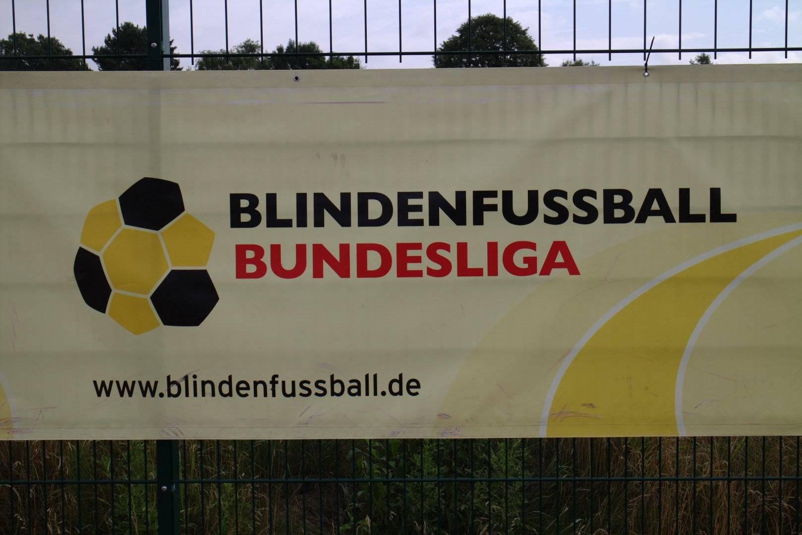 Blindenfußball Bundesliga Banner