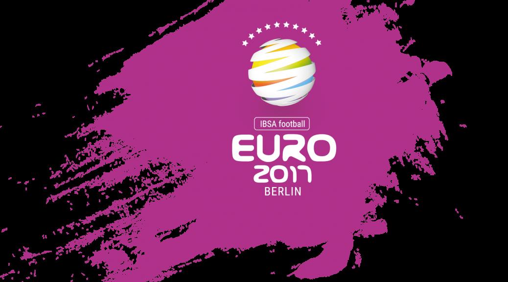 EURO 2017 Logo auf Lila Fleck