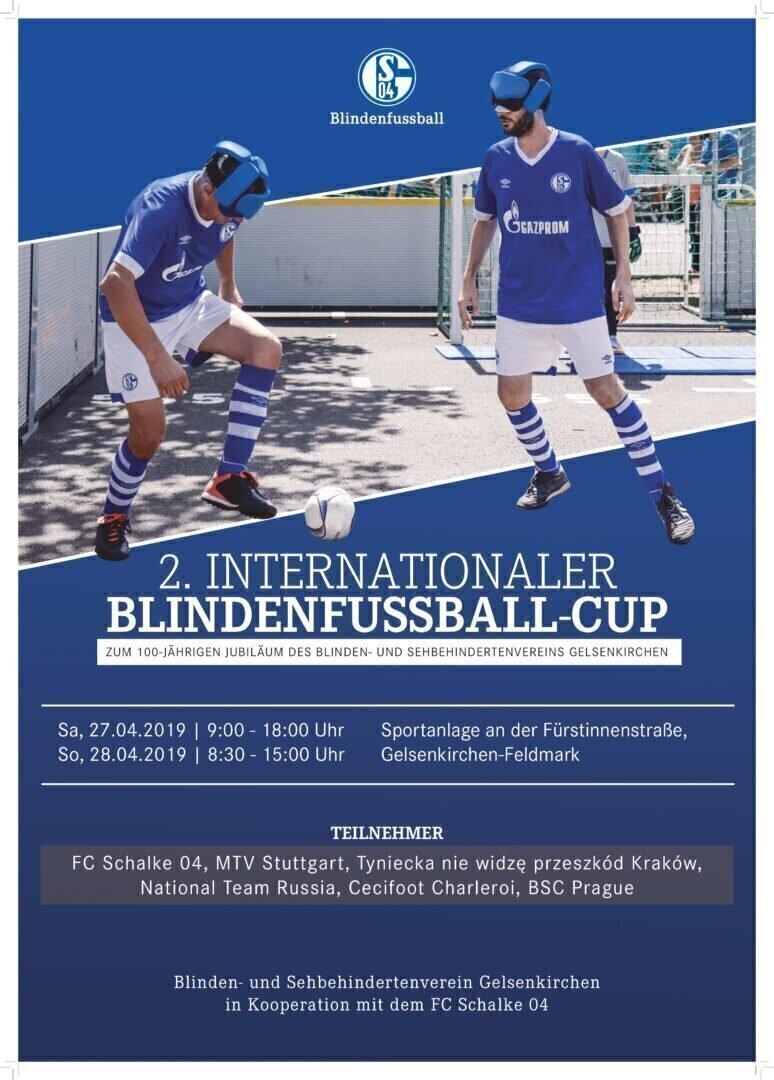 Die Zuschauer an der Fürstinnenstraße in Gelsenkirchen erwartet ein tolles Blindenfußballturnier. Foto: FC Schalke 04