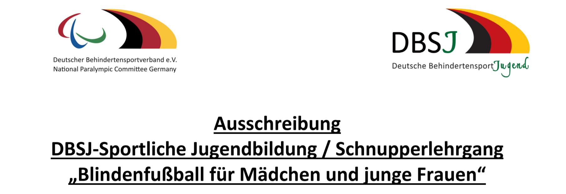 In Hamburg findet ein Blindenfußball-Schnupperkurs für junge Mädchen und Frauen statt. Logorechte: DBS