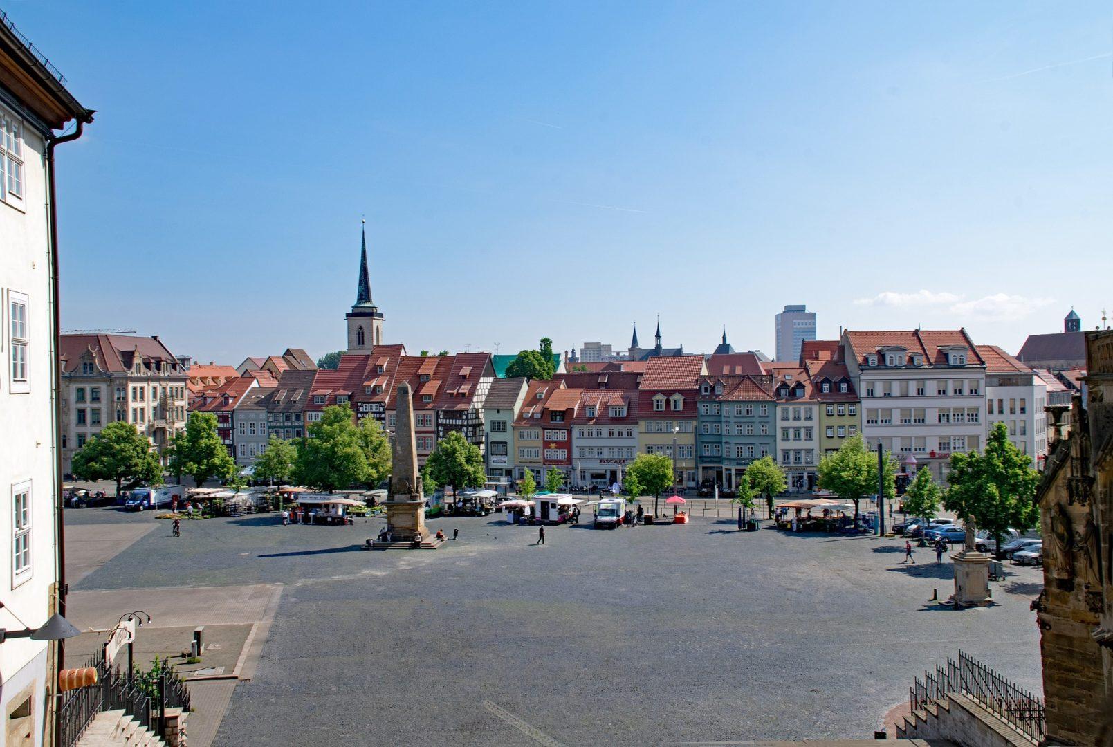 Auf dem Erfurter Domplatz wird der Deutsche Meister 2020 im Blindenfußball ermittelt. Fotorechte: lapping