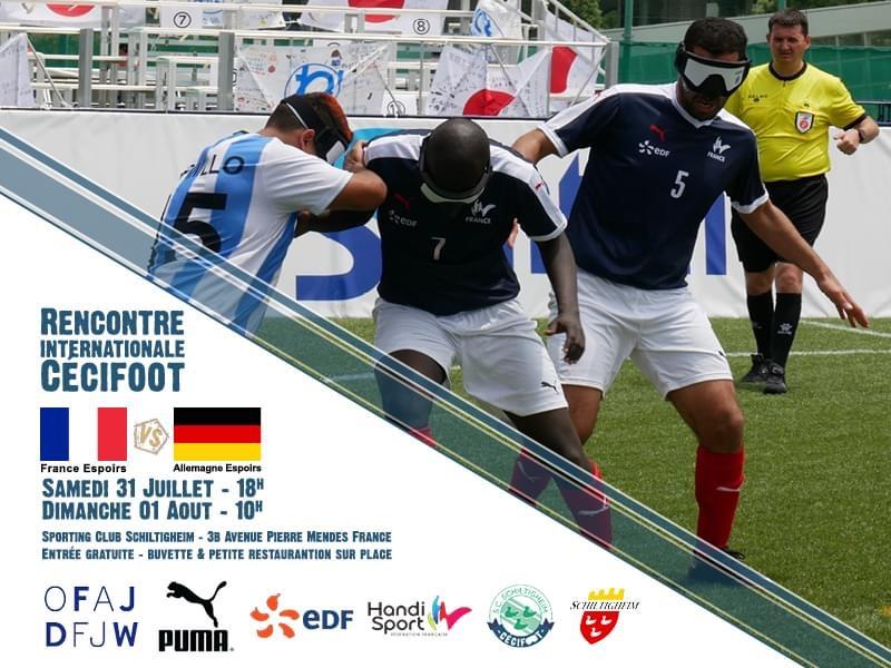 Spielankündigung gegen Frankreich. Foto: privat